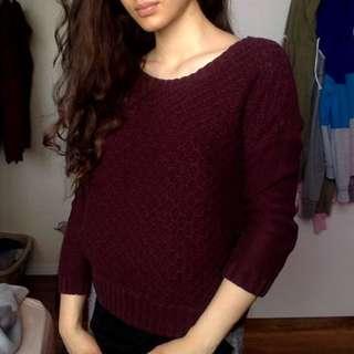Maroon Wool Sweater
