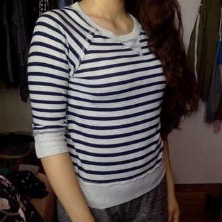 Striped Warm Sweater/Top