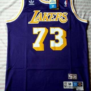 a44bb9e1ce5a Adidas HW Classics Rodman Lakers Jersey