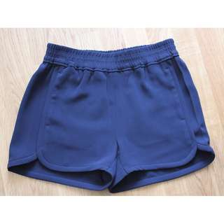 Sz 0 - J Crew Crepe Navy Pull-on Shorts