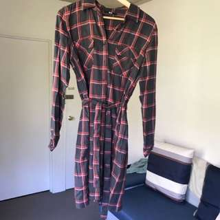 UNIQLO Shirt Dress SZ M
