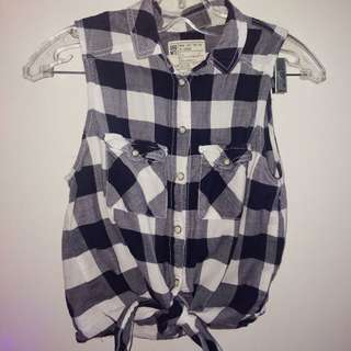 Plaid Muscle Button-up Shirt