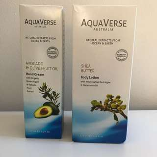 Aquaverse Hand Cream And Body Lotion