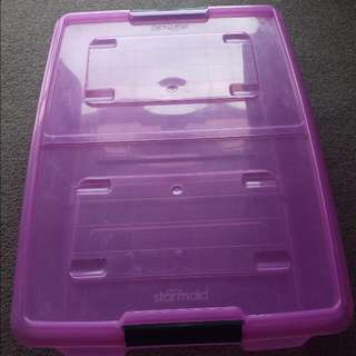 pink starmaid plastic storage
