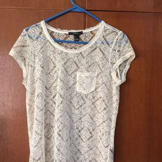 Lace Top (Forever 21, US Small)