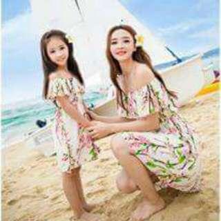 Mother& Daughter Summer Dress