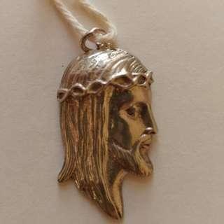 Real Sterling Silver 925 Jesus Christ Pendent