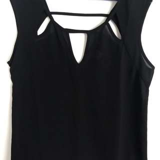 Forever 21 Black Top With Cut Outs