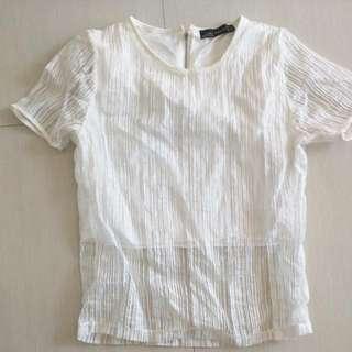Preloved $1.50 White Zara Top