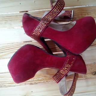 6 Inches Heels (Red) Size 5