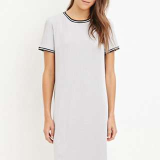 Forever21 Striped-trim Dress - L