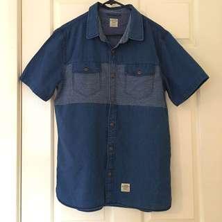Men's Vans Authentic Short Sleeve Button Shirt Size M