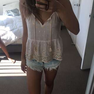 Abercrombie And Fitch Boho Top Xs