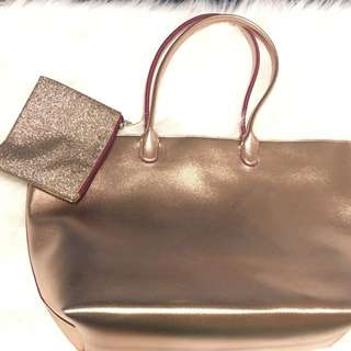 B&b Rose Gold Tote Brand New