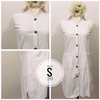 Sleeveless Button-down Dress