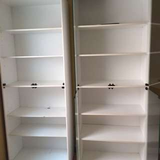 White Tall Bookcases