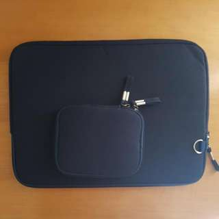 Navy 13 Inch Laptop Case With Accessory Pouch
