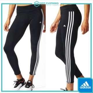 降)adidas運動褲 緊身褲 內搭褲 三條線 AJ9366