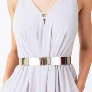 Silver Metal Waist Belt
