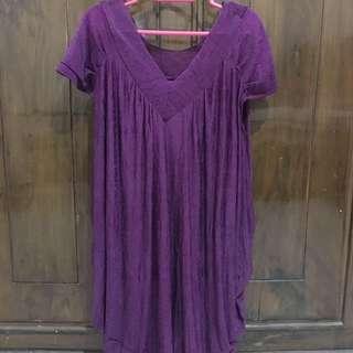 Dark Purple Mini Dress