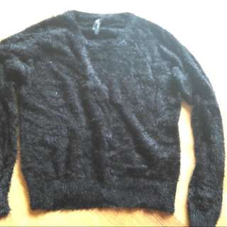 Fluffy Black Jumper