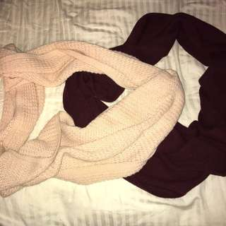 Circle scarves!