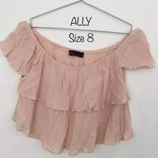 Ally Crop Top Size 8