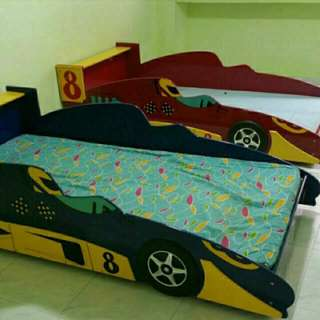 Red Race Car Bed