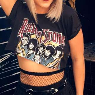 Rolling Stones Cropped Tee