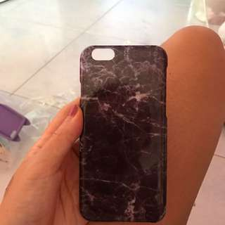 IPhone 6 Black Marble Cover