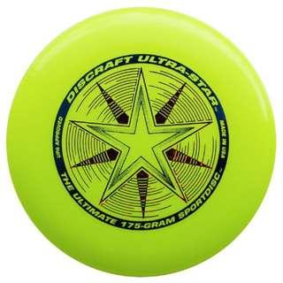 New Fluorescent Yellow Frisbee Discraft 175g USA