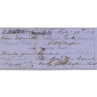 Antique Promissory Note - USA - 1853