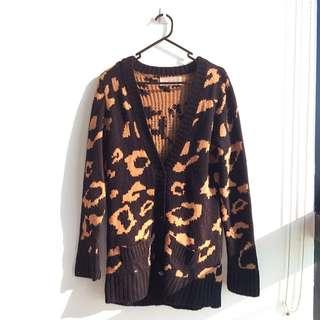 NEW Print Knit Cardigan