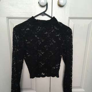 Forever 21 New Lace Top Size S