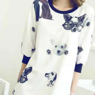 99% New dog lover clothes(only wear 1 time)