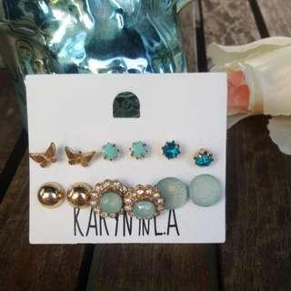 6 Sets Of Earrings