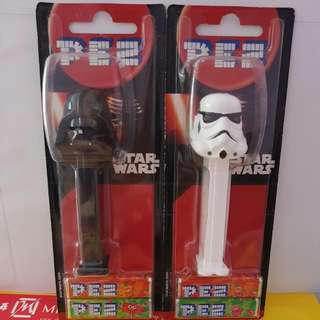 PEZ TOYS - Darth Vader / Stormtropper (Buy 2 At $10)(T)