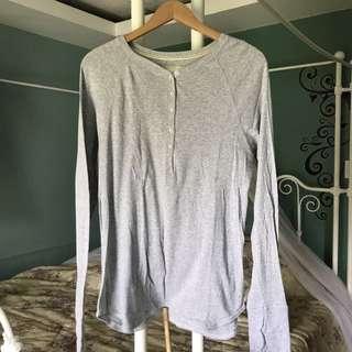 Gray Longsleeve Top