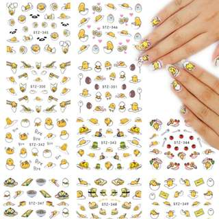9 Design GUDETAMA Water Transfer Nail Sticker