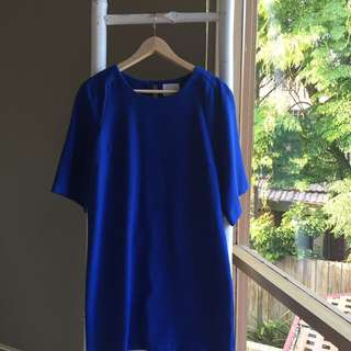 Otto Mode Cobalt Blue Shift Dress Size 10 S