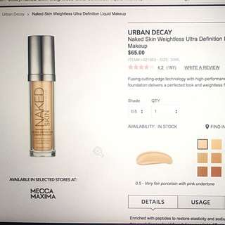 Urban Decay - Naked Skin Weightless Foundation