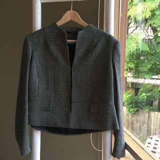 Perri Cutten Micro Houndstooth Jacket Sz 12