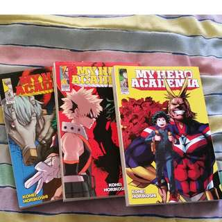 My Hero Academia manga volumes 1-3