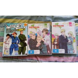 Hetalia seasons 3 and 4 and movie