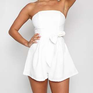 White Playsuit Size 12 ~ No Swaps ~