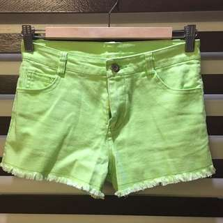 Summer Neon Green Shorts