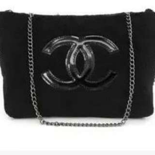 Chanel Chain Crossbody Fabric Bag - VIP Gift