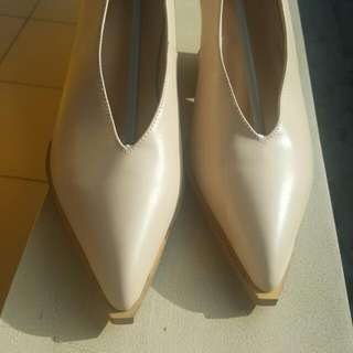 Nude Partly Wedges Heels, Size 37- Length 23.5cm