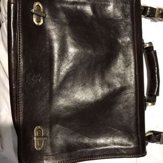 Laptop Leather bag handmade in Florence, Italy