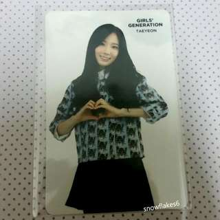 SNSD Taeyeon COEX Fortune Card